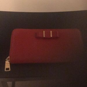 Leather Coach Wallet (Red)